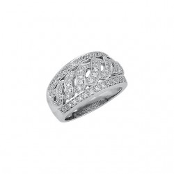 14K White 1/2 CTW Diamond Band