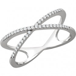 14K White 1/6 CTW Diamond Ring Size 7
