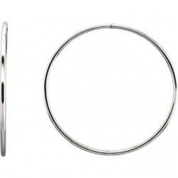 Sterling Silver 45mm Endless Hoop Tube Earrings