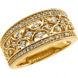 14K Yellow 5/8 CTW Diamond Band Size 7