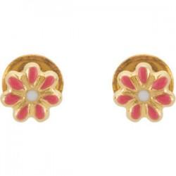 Youth Enameled Floral-Inspired Earrings