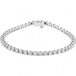 14K White 3 3/8 CTW Diamond Line Bracelet