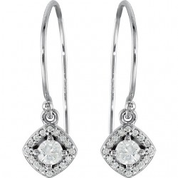 14kt White 5/8 CTW Diamond Earrings
