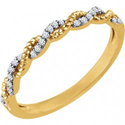 14K Yellow .08 CTW Diamond Stackable Ring