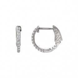 Platinum 1/4 CTW Diamond Inside/Outside Hoop Earrings