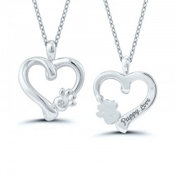 Sterling Silver Puppy Love Pendant