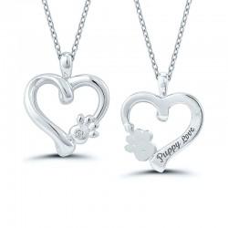 Sterling Silver Puppy Love Pendant