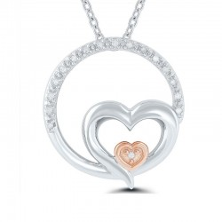 Sterling Silver Circle My Heart Pendant