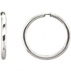 Sterling Silver 13mm Endless Hoop Tube Earrings