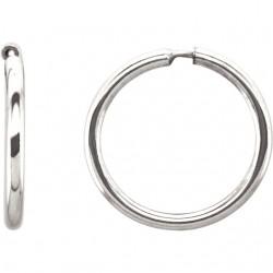 Sterling Silver 13mm Endless Hoop Tube Earrings
