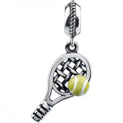 Sterling Silver 18x9.5mm Tennis Dangle
