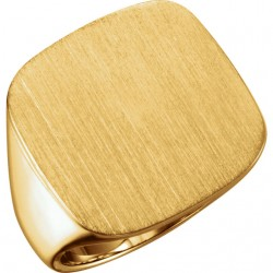 14kt Yellow 20mm Men-s Solid Signet Ring