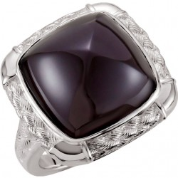 Onyx Weave Design Ring