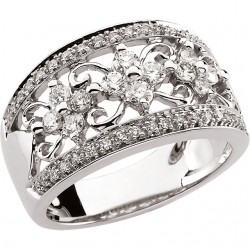 14kt White 3/4 CTW Diamond Ring