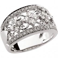 14kt White 3/4 CTW Diamond Ring