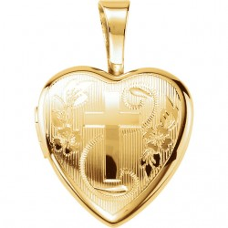 Sterling Silver Cross Heart Locket