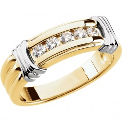14K Yellow & White 1/2 CTW Diamond Ring