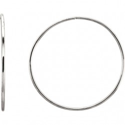 Sterling Silver 51mm Endless Hoop Tube Earrings