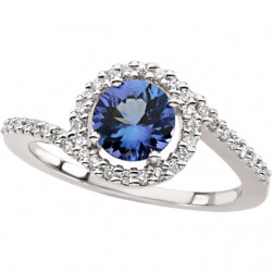 Tanzanite & Diamond Accented Ring