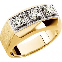 14K Yellow 1 CTW Diamond Men