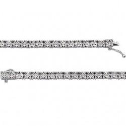 "Sterling Silver 1/4 CTW Diamond Line 7"" Bracelet"