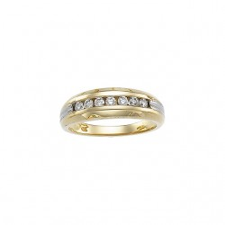 14kt Yellow & White Men-s 3/8 CTW Diamond Ring