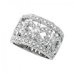 14K White 1/2 CTW Diamond Ring Size 7