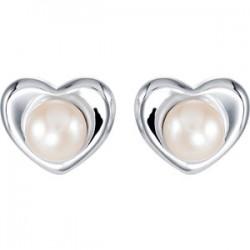Freshwater Cultured Pearl Heart Earrings
