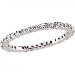 14kt White 1/2 CTW Diamond Eternity Band Size 5