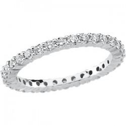 14kt White 1 CTW Diamond Eternity Band Size 5.5