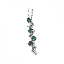 Genuine Emerald & Diamond Necklace
