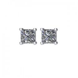14kt White 1/4CTW Diamond Earrings