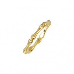 14K Yellow .06 CTW Diamond Ring