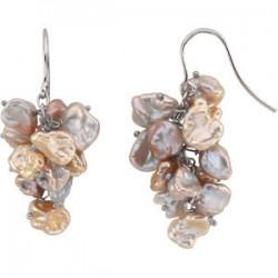 Freshwater Keshi Cultured Pearl Earrings