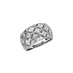 14K White 1/2 CTW Diamond Ring