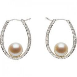 Freshwater Cultured Pearl Hoop Earrings