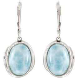 Larimar Lever Back Earrings