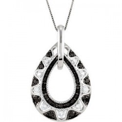 Black & White Diamond Necklace
