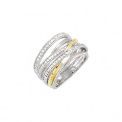 14K White & Yellow 1/2 CTW Diamond Ring Size 7