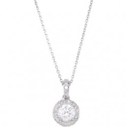 "14K White 1/2 CTW Diamond 18"" Necklace"