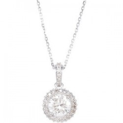 "14K White 1 CTW Diamond 18"" Necklace"