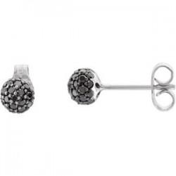 PavC) Ball Stud Earrings