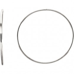 Sterling Silver 53mm Endless Hoop Tube Earrings