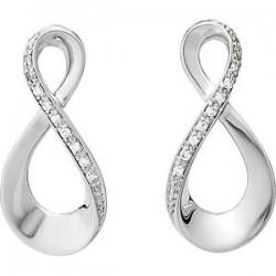 14K White .08 CTW Diamond Infinity-Inspired Earrings