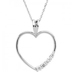Journey Diamond Heart Necklace