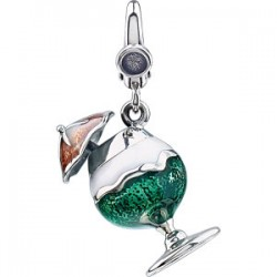Enamel Cocktail with Umbrella Charm