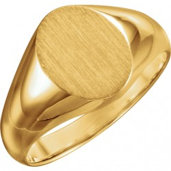 10K Yellow 10x8mm Oval Signet Ring
