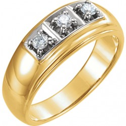 14K Yellow 1/3 CTW Diamond Ring
