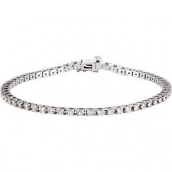 "14K White 2 CTW Diamond Line 7.25"" Bracelet"