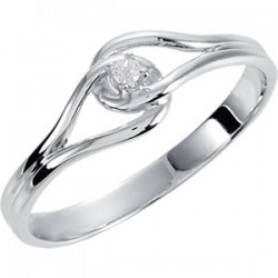 14K White .02 CTW Diamond Ring